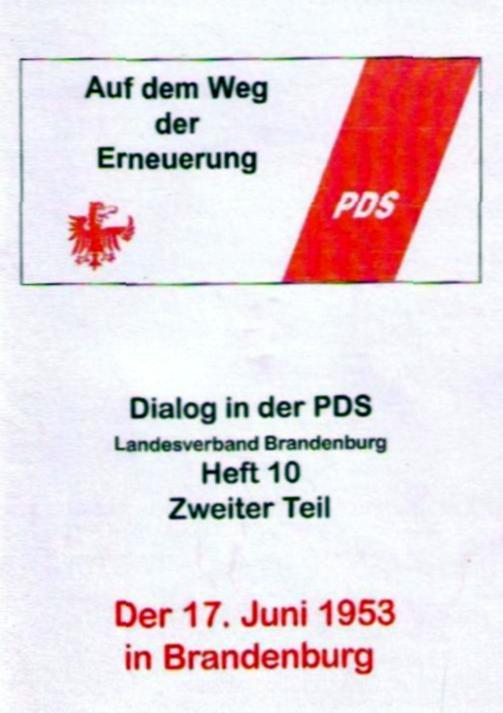 Schülerwettbewerb zum 50. Jahrestag des Arbeiteraufstandes am 17. Juni 1953 in der DDR