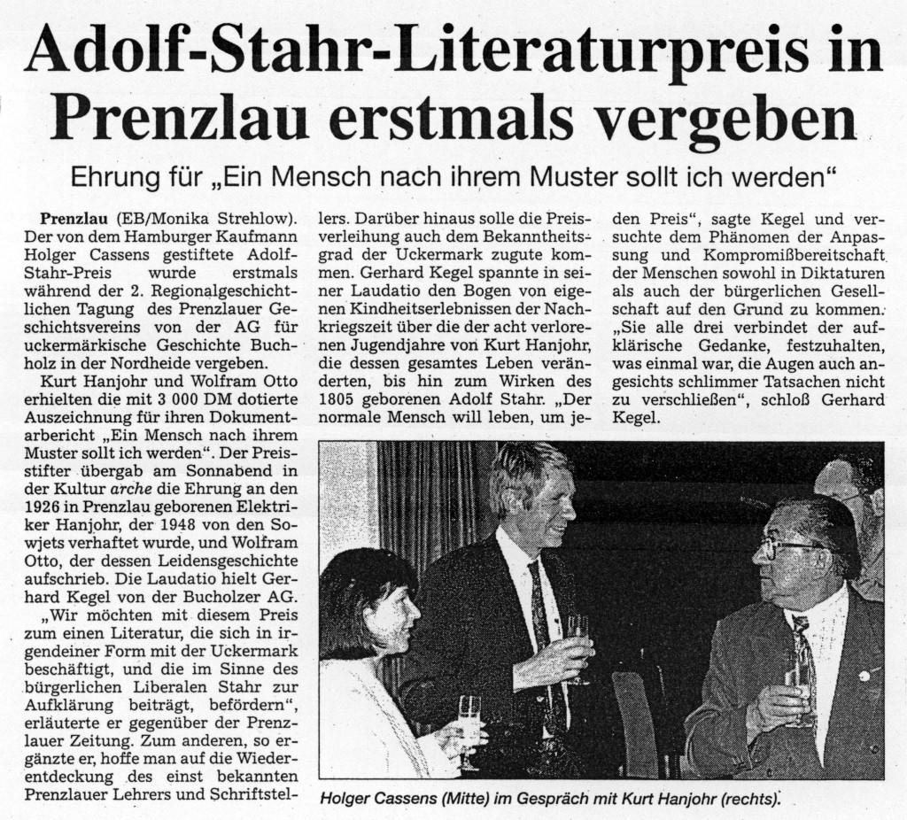 Prenzlauer Zeitung vom 03.06.1996