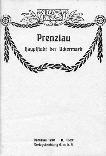 Prenzlau, Hauptstadt der Uckermark. 1910