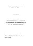 Josephine Cebulla: Umgang der Stasi mit Andersdenkenden