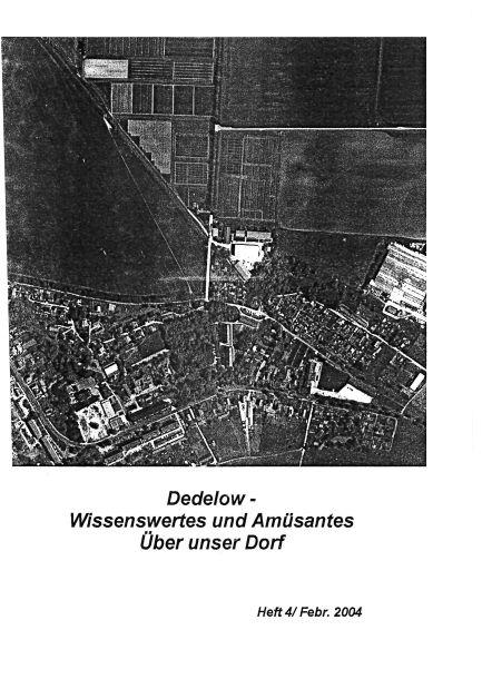Dedelow – Wissenswertes uns Amüsantes über unser Dorf. (Heft 4, 2004)