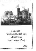 Dedelow – Wissenswertes uns Amüsantes über unser Dorf. (Heft 5, 2004)