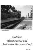 Dedelow – Wissenswertes uns Amüsantes über unser Dorf. (Heft 8, 2008)