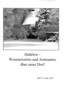 Dedelow – Wissenswertes uns Amüsantes über unser Dorf. (Heft 11, 2011)