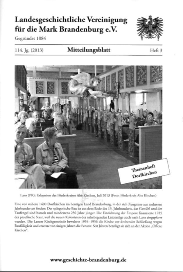 Mitteilungsblatt der Landesgeschichtlichen Vereinigung