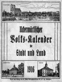 Uckermärkischer Volks-Kalender für Stadt und Land 1916.