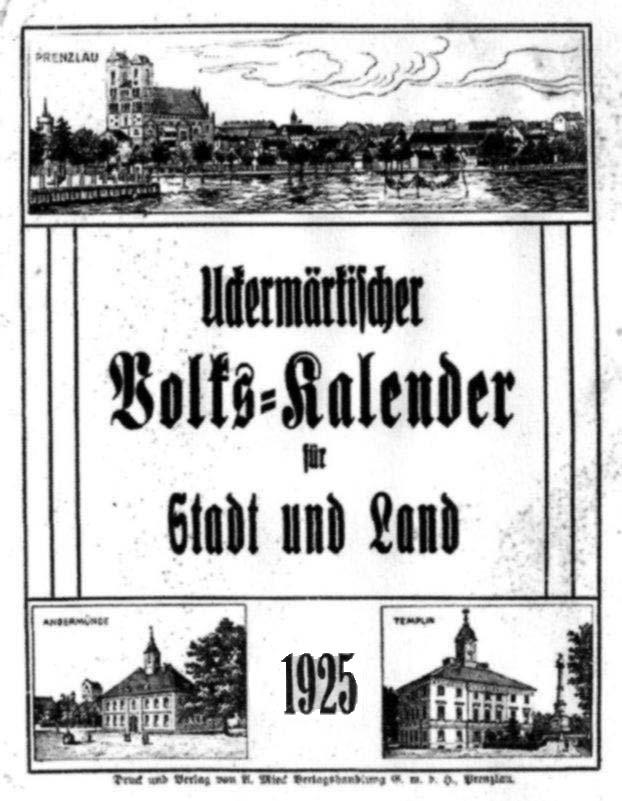 Uckermärkischer Volks-Kalender für Stadt und Land 1925