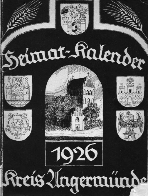 Heimat-Kalender Kreis Angermünde 1926