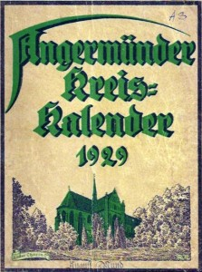Angermünder Kreis-Kalender 1929