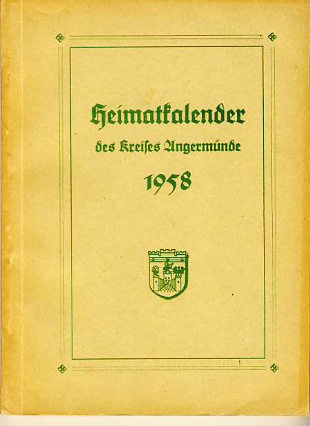 Heimatkalender Angermünde 1958