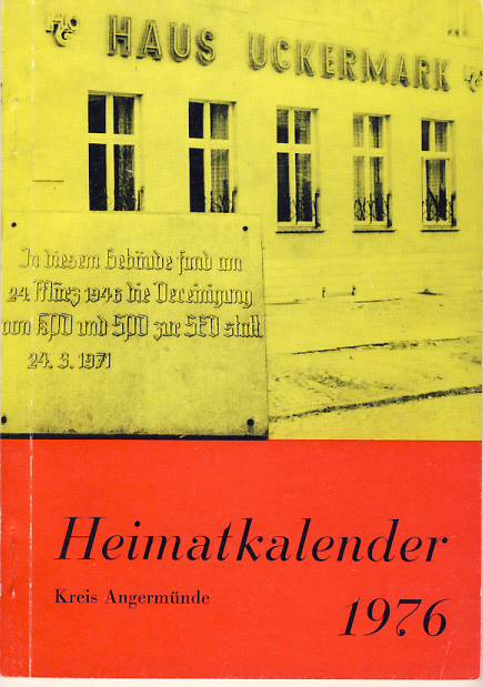 Heimatkalender Angermünde 1976