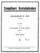 Heimatkalender Templin 1929