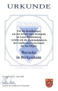 _Birkenhain Denkmalplakette