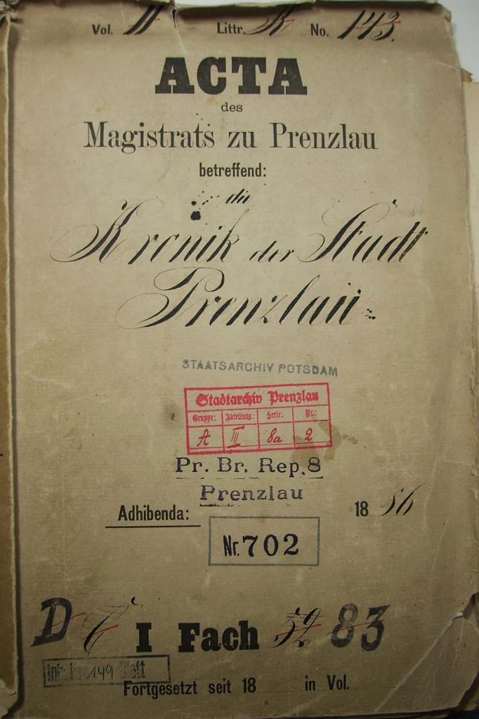 Chronik der Stadt Prenzlau - Magistrat