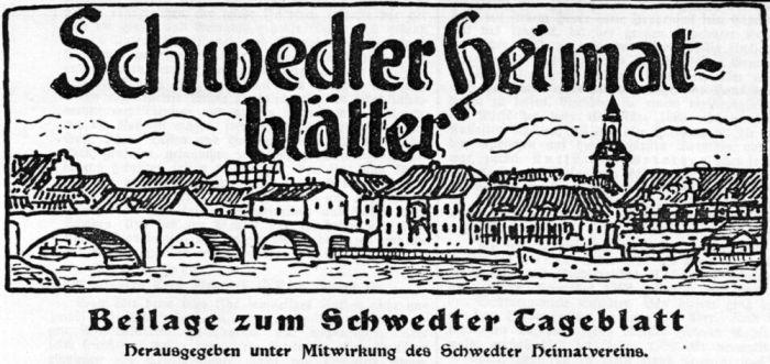 Schwedter Heimatblätter 1929