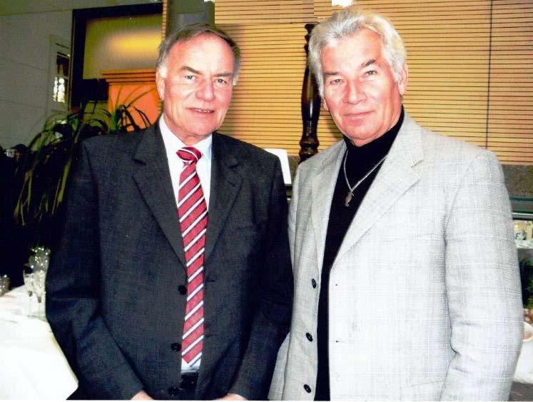 Landtagspräsident Gunter Fritsch (links) und Hans-Jürgen Schulz