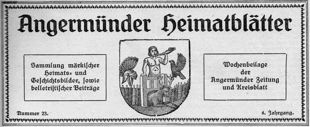 Angermünder Heimatblätter 1925. (April bis Dezember)