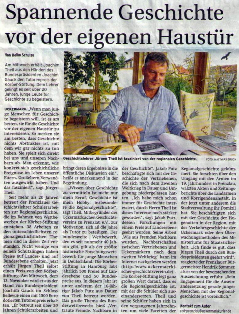 Prenzlauer Zeitung vom 11.11.2013