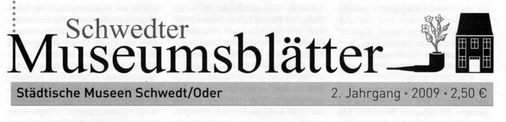 2. Schwedter_Museumsblätter 2009