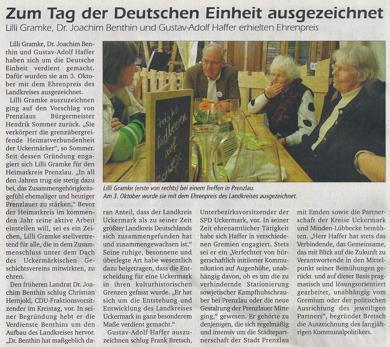 Rodinger, Stadtanzeiger für Prenzlau und Ortsteile (vom 10.10.2014)
