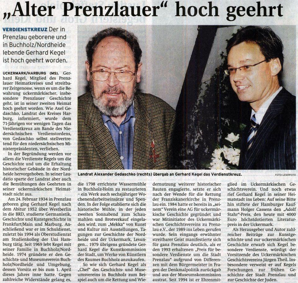 Artikel aus: UckermarkKurier der Prenzlauer Zeitung vom 20.05.2005