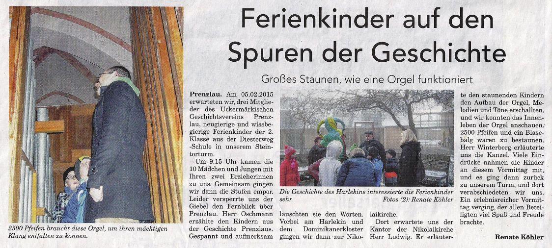 AnzeigenKurier der Prenzlauer Zeitung vom 21.02.2015 (Meine Uckermark)
