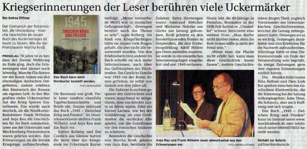 Prenzlauer Zeitung vom 15.07.2015
