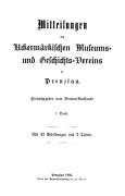Mitteilungen UMGV, Band 1