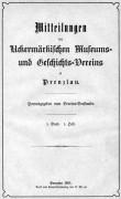 Mitteilungen UMGV Band 1 Heft 1