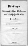 Mitteilungen UMGV Band 1 Heft 2