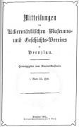 Mitteilungen UMGV Band 1 Heft 3+4