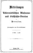 Mitteilungen UMGV Band 2 Heft 1