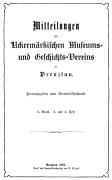 Mitteilungen UMGV Band 2 Heft 3+4