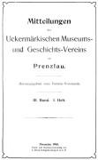 Mitteilungen UMGV Band 3 Heft 1
