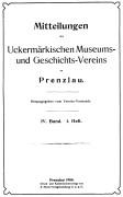 Mitteilungen UMGV Band 4 Heft 1