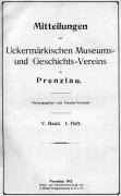 Mitteilungen UMGV Band 5 Heft 1