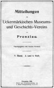 Mitteilungen UMGV Band 5 Heft 3+4