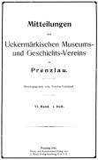 Mitteilungen UMGV Band 6 Heft 1