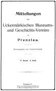 Mitteilungen UMGV Band 6 Heft 3