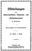 Mitteilungen UMGV Band 7 Heft 3