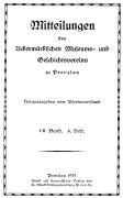 Mitteilungen UMGV Band 7 Heft 4
