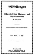 Mitteilungen UMGV Band 8 Heft 1