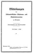 Mitteilungen UMGV Band 8 Heft 3