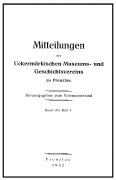 Mitteilungen UMGV Band 8 Heft 4