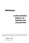 Mitteilungen UMGV Band 9 Heft 1