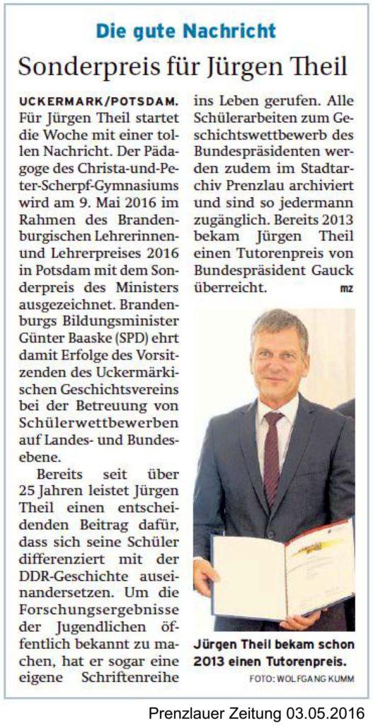 Prenzlauer Zeitung vom 03.05.2016